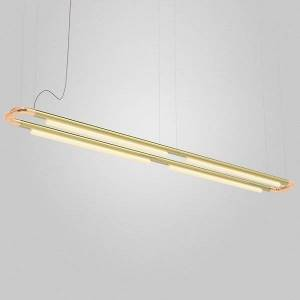 ANDlight Pipeline CM7 LED Linear Chandelier - Color: Copper - Size: 4 light - PIP-CM7-P-CP-BR-35-MLV-120