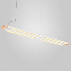 ANDlight Pipeline CM7 LED Linear Chandelier - Color: Copper - Size: 4 light - PIP-CM7-P-CP-WH-41-MLV-120