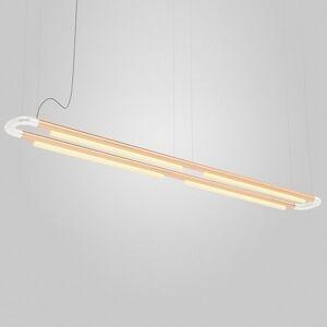 ANDlight Pipeline CM7 LED Linear Chandelier - Color: White - Size: 4 light - PIP-CM7-P-WH-CP-35-MLV-120