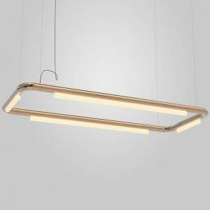 ANDlight Pipeline CM4 LED Linear Chandelier - Color: Copper - PIP-CM4-P-CP-41-010-120
