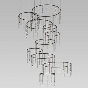 SONNEMAN Lighting Suspenders Vertical Ring Matrix with Crystal Ladder Light - Color: Black - SLS0163