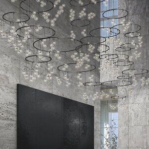 SONNEMAN Lighting Suspenders Vertical Ring Matrix Glass Cluster Pendant Light System - Color: Black - Size: 177 light - SLS1168