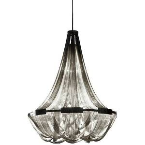 Terzani Soscik Chandelier - Color: Silver - Size: Large - 0G57SH4C8A