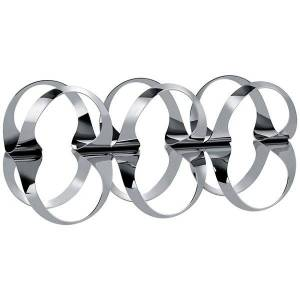 Alessi Ribbon Wine Rack - Color: Polished Stainless Steel - UNS02