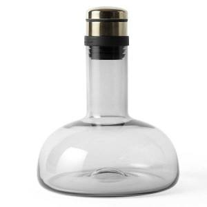Menu Wine Breather Carafe - Color: Smoke / Brass / Brass - Size: Standard - 4680949