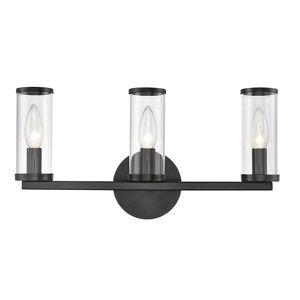 Alora Lighting Revolve Bath Bar - Color: Clear / Bronze - WV309033UBCG