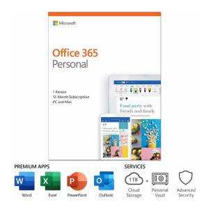 Microsoft Office 365 Personal 1-User License (12-Month Subscription)