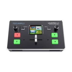 FeelWorld LIVEPRO L1 Multicamera Video Switcher with 4 x HDMI Inputs and USB Streaming
