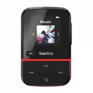SanDisk 16GB Clip Sport Go Wearable MP3 Player (Red)