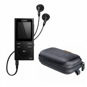 Sony NW-E393 Walkman MP3 Player (4GB, Black) with Hard Carrying Case