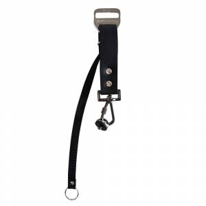 Heavy Leather NYC Slingshot Strap Slide and Safety Leash (Black)