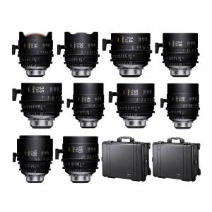 Sigma FF Classic Prime Line 10-Lens Kit (Feet Markings) with Two Hard Cases