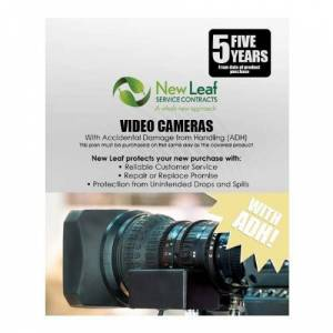 New Leaf Service Contracts New Leaf 5-Year Video Cameras Service Plan with ADH for Products Retailing Under $9000