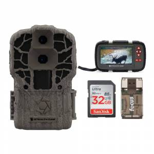 Stealth Cam DS4K Max 32MP Trail Camera with Viewer, 32GB SD Card, and Reader