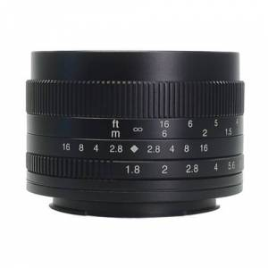 7artisans Photoelectric 50mm f/1.8 Manual Lens for Fujifilm X Mount Cameras (Black)