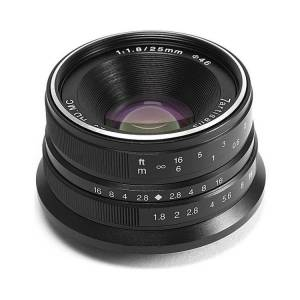 7artisans Photoelectric 25mm f/1.8 Manual Focus Fixed Lens for Micro Four Thirds Mount Cameras (Black)