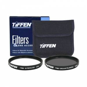 Tiffen 77mm Photo Twin Pack (UV Protection and Circular Polarizing Lens Filter)