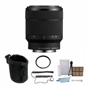 Sony FE 28-70mm f/3.5-5.6 OSS Lens with 55mm UV Protector and Accessory Bundle