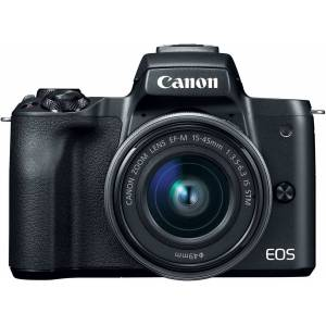 Canon EOS M50 Mirrorless Camera with EF-M 15-45mm and 55-200mm IS STM Lenses
