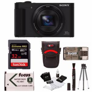 Sony Cyber-Shot HX80 Compact Camera with Batteries and 32GB Accessory Bundle