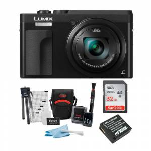 Panasonic LUMIX DC-ZS70K 20.3MP 4K Digital Camera (Black) with 32GB SD Card and Accessory Bundle