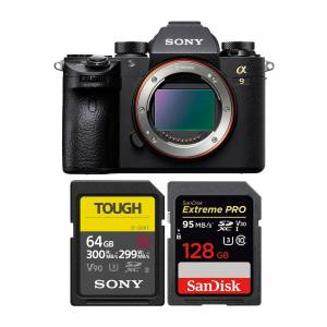 Sony Alpha a9 Mirrorless Camera with 64GB UHS-II and 128GB Memory Card Bundle