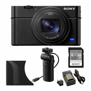 Sony RX100 VI Cyber-shot 20.1MP Digital Camera with Shooting Grip and 64GB E-Series SD Card Bundle