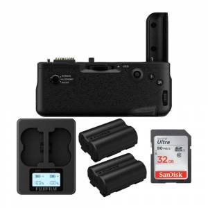 Fuji Vertical Battery Grip for X-T4 Mirrorless Cameras with Batteries, 32GB SD Card and Dual Charger Bundle