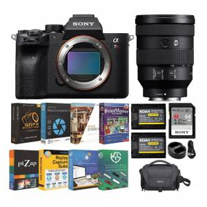 Sony a7R IV 61MP Full-frame Mirrorless Camera with FE 24-105mm f/4 G OSS Lens and Accessory Bundle