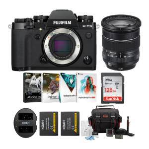Fuji X-T3 Mirrorless Camera (Black) with XF 16-80mm f/4 R OIS WR Lens and Photo Software Bundle