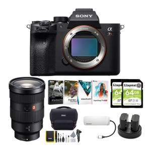 Sony Alpha a7R IV Mirrorless Digital Camera Body with 24-70mm f/2.8 G Lens and Software Suite Bundle