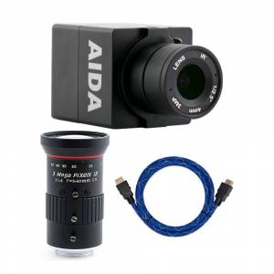 AIDA HD-100A Compact Full HD HDMI POV Camera with 5mm-50mm Lens and 4K HDMI to HDMI Cable
