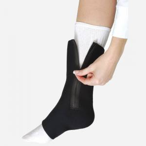 Ossur Ankle Sleeve Neo w/Zipper for Right Thumb, X-Large: 6 Inches, Black