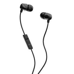 Skullcandy Jib In-Ear Noise-Isolating Earbuds In-Ear Earbud Headphones with In-Line Microphone and Remote for Hands-Free Calls, Lightweight, Stereo Sound & Enhanced Base, Black