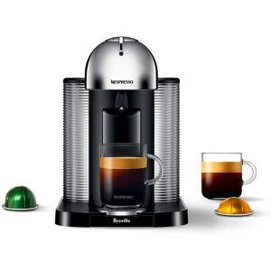 Nespresso Breville Nespresso Vertuo Automatic Eject Coffee and Espresso Maker Machine, Chrome