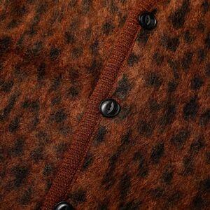 Wacko Maria Leopard Mohair Cardigan  Brown