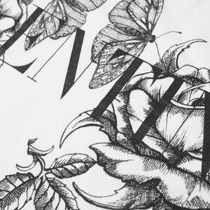 Valentino Floral Logo Tee  White & Dark Blooming 2