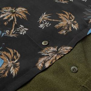 Undercover Faces Floral Vacation Shirt  Black Base
