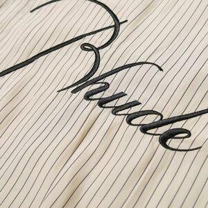 Rhude Trooper Logo Shirt  Tan & Navy