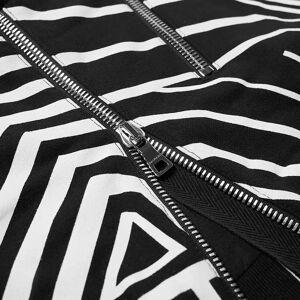 Balmain Monochrome Aztec Popover Hoody  Black & White