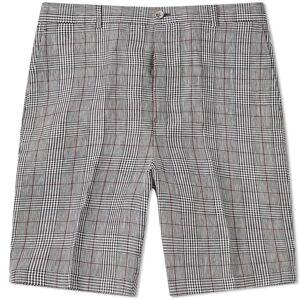 Thom Browne Crisp Check Linen Short  Black & White