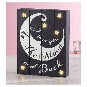 1-800-Flowers Love You To The Moon And Back LED Wall Art LED Wall Art by 1-800 Flowers