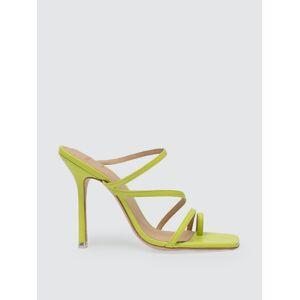 Black Suede Studio - Verified Partner Cindy Square Toe Sandal  - green - Size: 37
