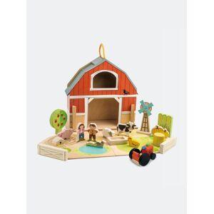 Tender Leaf Toys Little Barn Set  - red