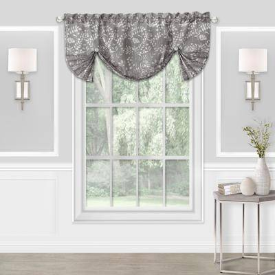 """Achim Home Dcor """"Wide Width Charlotte Window Curtain Valance by Achim Home Dcor in Grey (Size 52"""""""" W 17"""""""" L)"""""""