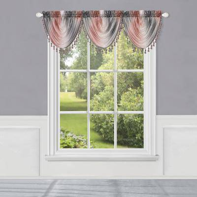 """Achim Home Dcor """"Wide Width Ombre Waterfall Valance by Achim Home Dcor in Blush (Size 46"""""""" W 42"""""""" L)"""""""