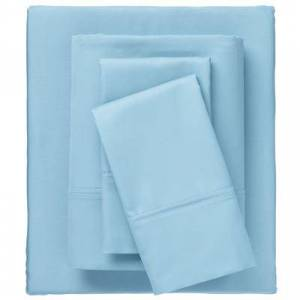 BrylaneHome Bed Tite 800 Thread Count Sheet Set, Size King in Light Blue by BrylaneHome