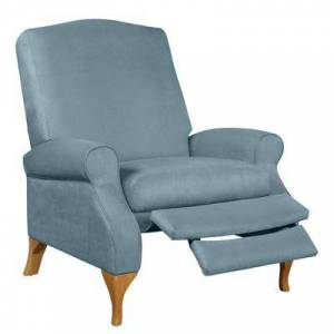 BrylaneHome Oversized Faux Suede Push Back Recliner in Soft Blue by BrylaneHome   350lbs Weight Capacity