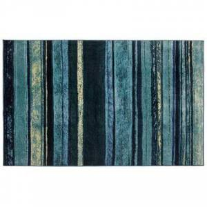 BrylaneHome Large Rainbow Stripe Rug, Size 5'W x 8'L in Blue by BrylaneHome
