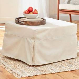 BrylaneHome Oversized Folding Sleeper Ottoman in Natural by BrylaneHome   350lbs Weight Capacity